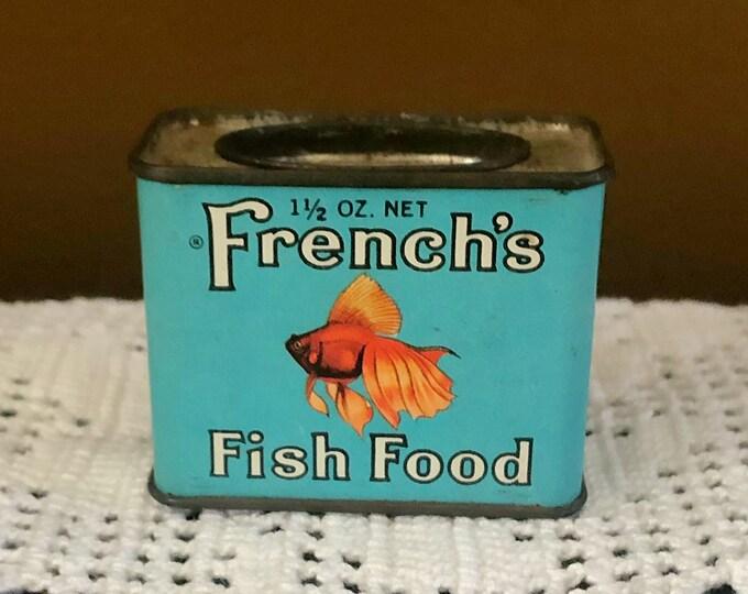 VINTAGE French's Fish Food Tin RARE