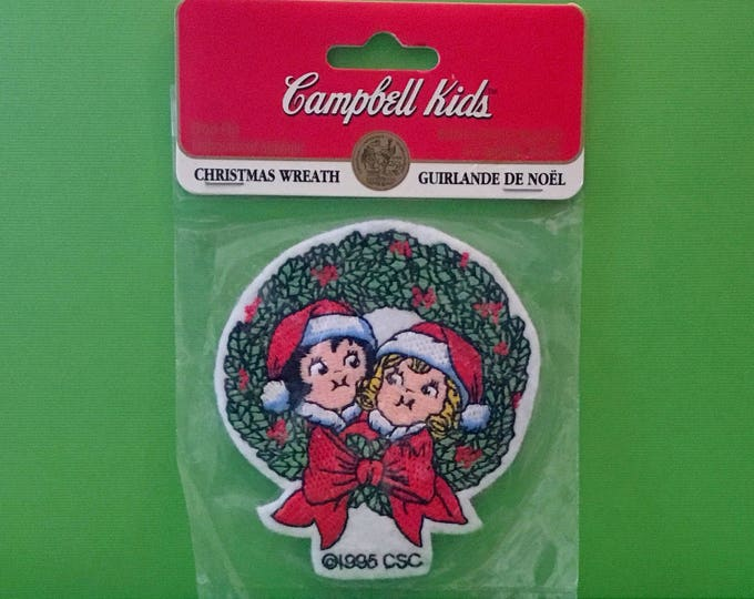 "Campbell Kids Christmas Patch ""Christmas Wreath"" (1995)"