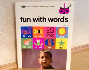 "WHITMAN ""Fun With Words"" PHONICS WORKBOOK (1968)"