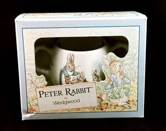 WEDGWOOD PETER RABBIT Two (2) Handled Baby Cup Vintage China Baby Shower 1991