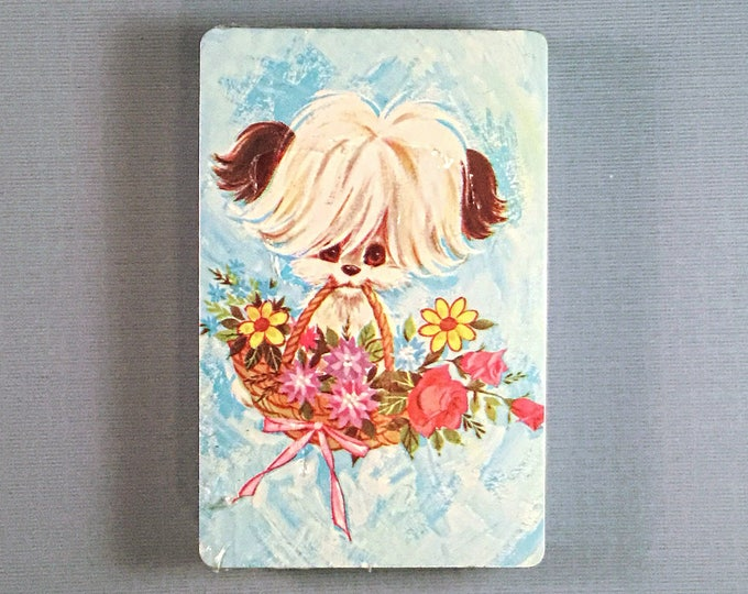 Playing Cards: Dog with Basket of Flowers
