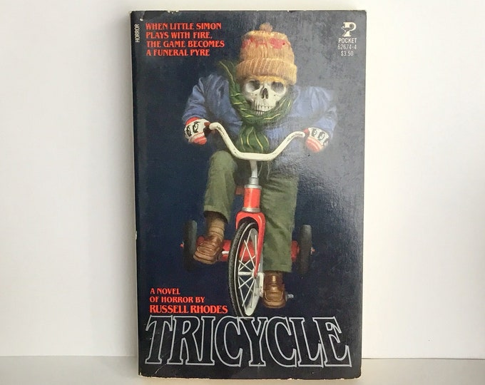 TRICYCLE - Novel of HORROR - VINTAGE Paperback Book by Russell Rhodes, 1983