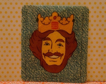 BURGER KING (1978) Iron-On Patch Vintage Fast Food Give-away