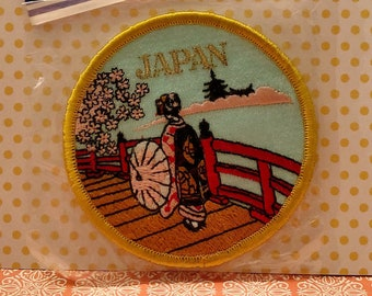JAPAN Themed Sew-on Appliqué Patch JAPANESE Iron-on