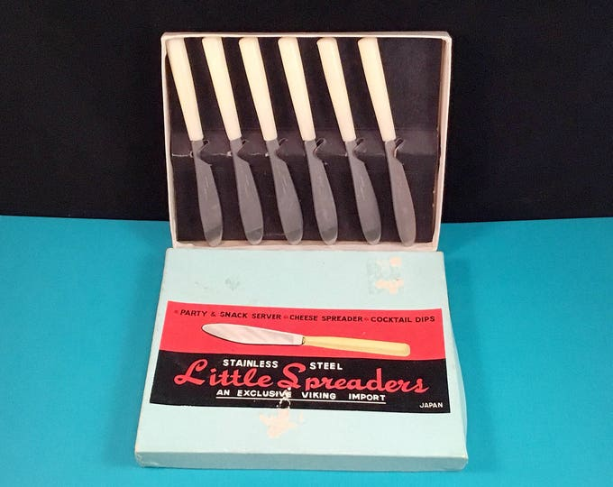 "Mid Century Stainless Steel ""Little Spreaders"""