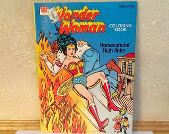 WONDER WOMAN: Homecoming High Jinks Coloring Book (1979)