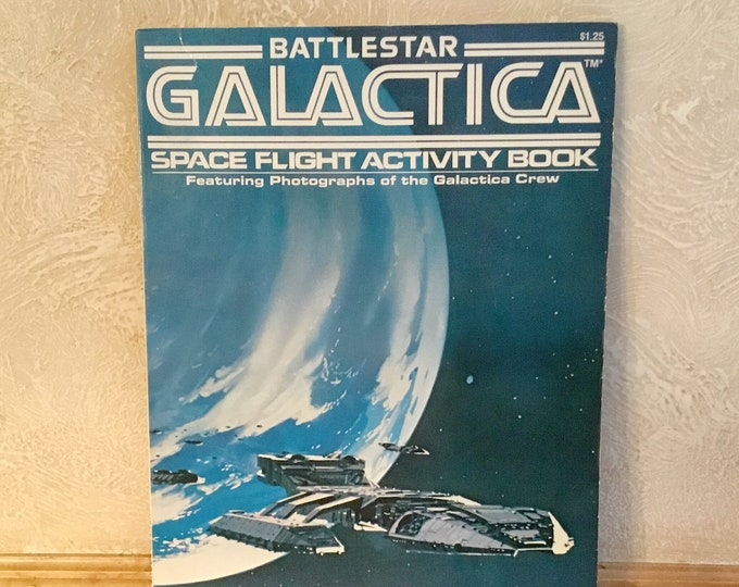 1978 BATTLESTAR GALACTICA Space Flight Activity Book