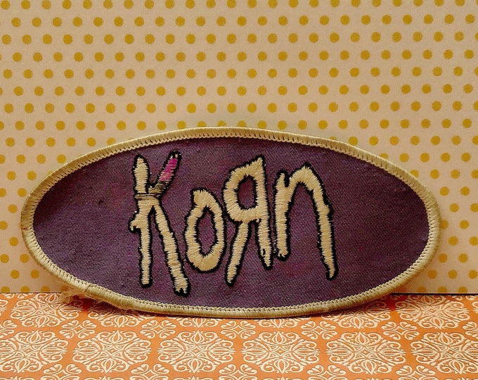 KORN Oval Sew-On Appliqué Embroidered Patch Iron-On Patch