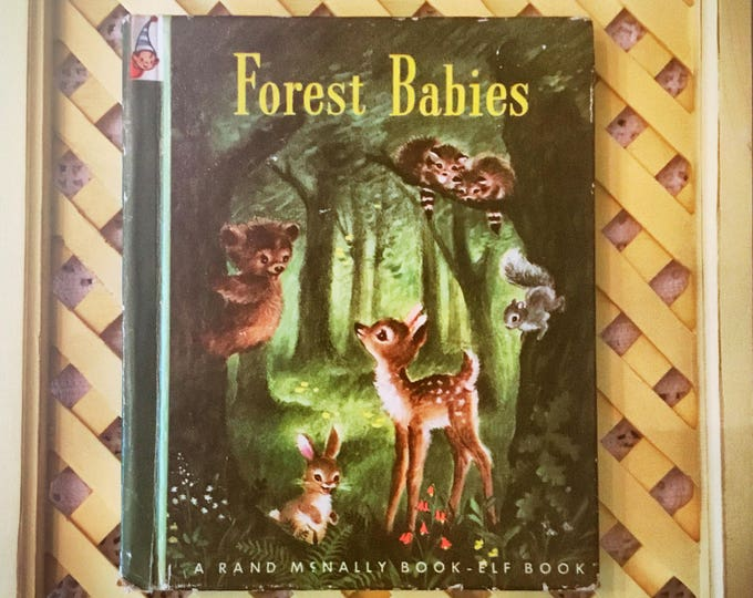 1949 FOREST BABIES Vintage Rand McNally Book / Elf Book