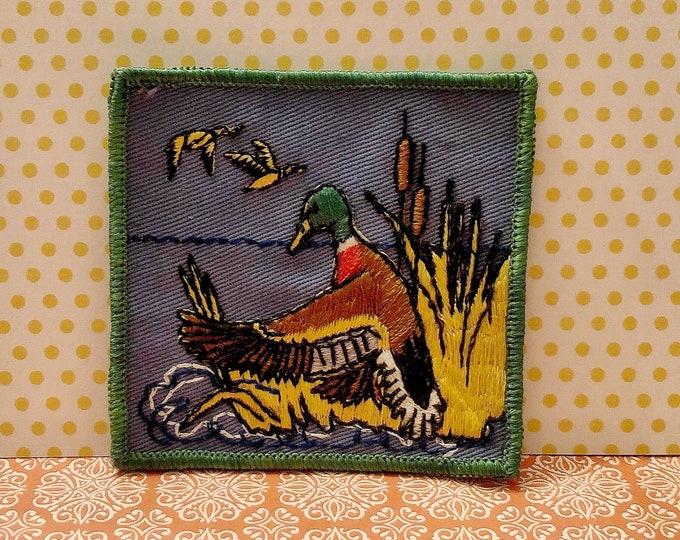 MALLARD DUCK Waterfowl Hunting Sew-on Appliqué Patch