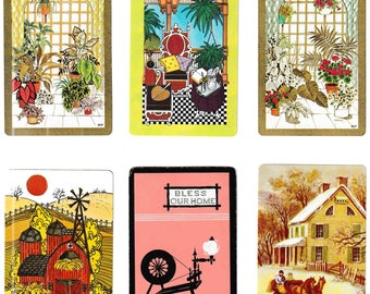 "Vintage ""HOME SWEET HOME"" Bulk Lot / Assorted / Home / Household / Decor Playing Cards / Swap Cards / Artist Trade Cards"