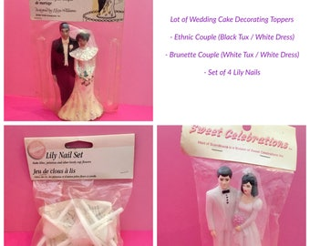 Wedding Cake Topper, Lot of Three (3) Items