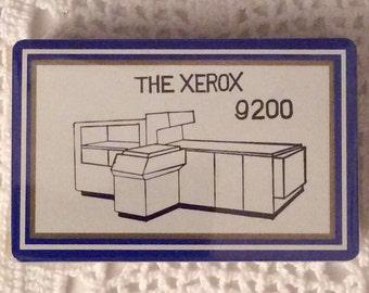 Playing Cards: Xerox 9200 Copier Business Machine