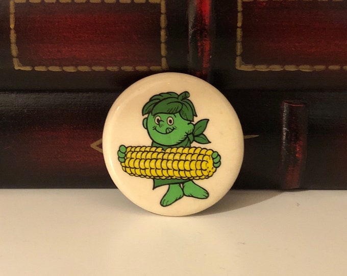 LITTLE GREEN SPROUT Vintage Pin Back / Pinback Button