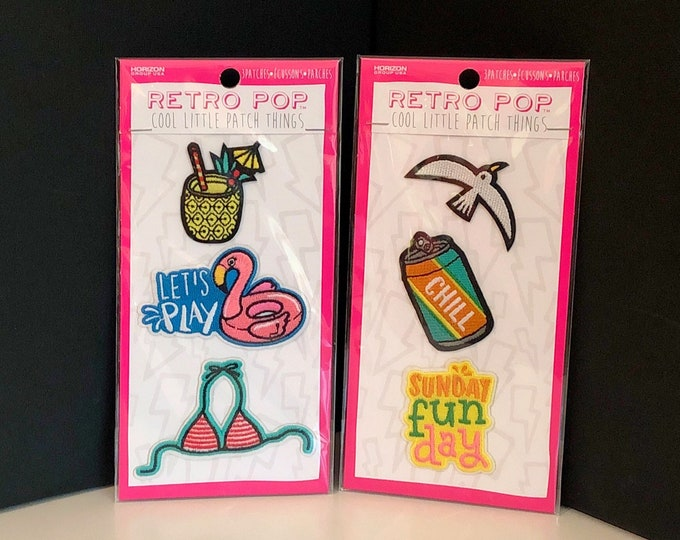 Retro Pop Little SEW-ON PATCHES, Beach / Summer Themes, Horizon Group (2018)