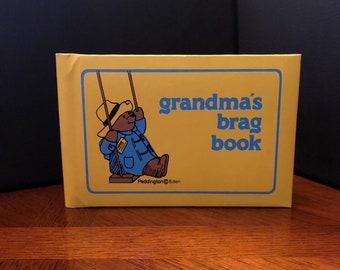 Vintage Grandma's BRAG BOOK Photo Album, PADDINGTON Bear, 1978
