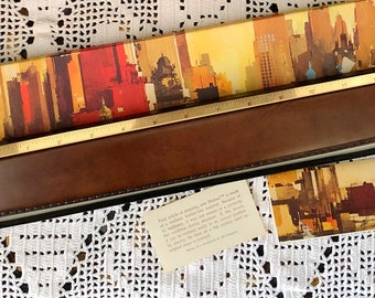 FAUX LEATHER Executive RULER 'Marina' By 3M Vintage Office