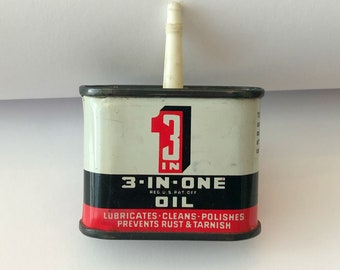 Vintage 3-IN-ONE OIL Tin Can Advertising