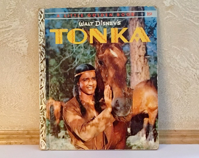 "WALT DISNEY'S ""TONKA"" Vintage Little Golden Book (1959)"