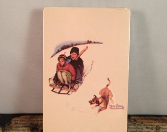 """Playing Cards: Norman Rockwell """"Downhill Daring"""""""