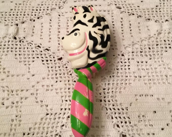 Vintage Children's AVON ZANY ZEBRA Hair Brush 1978