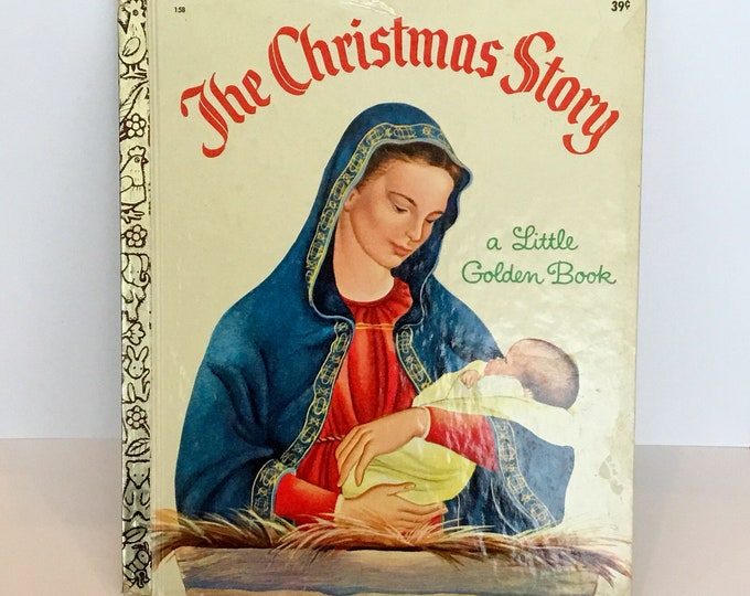 1969 The CHRISTMAS STORY Vintage Little Golden Book