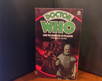 DOCTOR WHO and the Monster of Peladon Paperback Book by Terrance Dicks, 1980