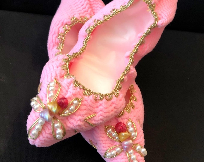 Vintage Decorative Women's  SLIPPERS, BOOTIES, SHELETS by Handcraft Company Nylon