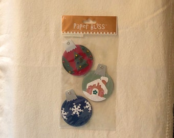 Christmas Ornaments 3D Scrapbooking Stickers by Westrim Paper Bliss 2004