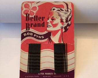 Vintage HAIR Accessories, BOBBY-PINS, Bob Pins, Better Brand Beauty
