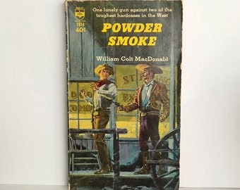 Powder Smoke VINTAGE WESTERN Paperback by William Colt MacDonald, 1963