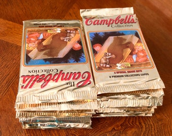 LOT of 26 Packs The CAMPBELL'S COLLECTION Premium Collector Cards 8 Cards in a pack