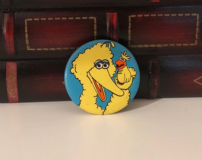 MUPPETS BIG BIRD and Little Bird Clip-On, Pin Back / Pinback Button Vintage