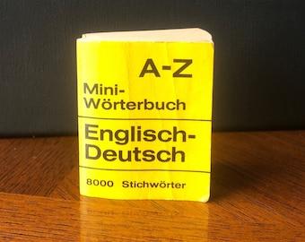 ENGLISH - German / Englisch - Deutsch, Mini-Wörterbuch / Mini-DICTIONARY, 8000 Stichwörter / 8000 Entries Vintage