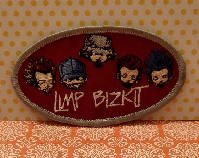 LIMP BIZKIT Oval Sew-On Appliqué Embroidered Patch Iron-On Patch