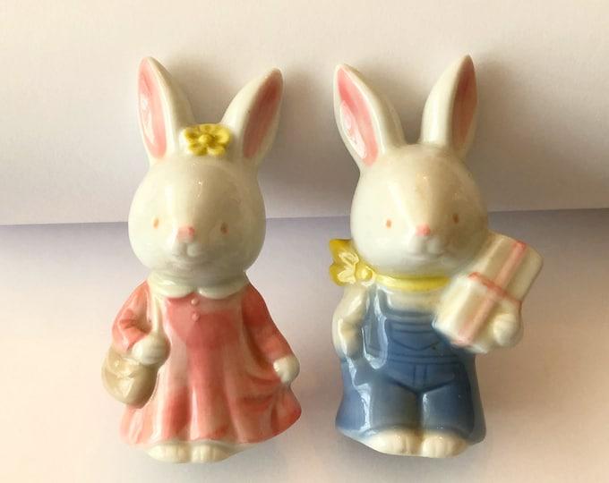 Lot of Vintage EASTER CERAMIC Knick-Knacks Bunnies Baskets Made in Japan