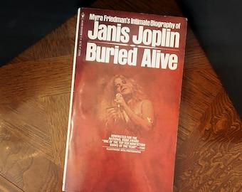 JANIS JOPLIN BIOGRAPHY Paperback Book by Myra Friedman © 1973, 1974
