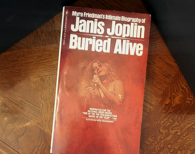 JANIS JOPLIN BIOGRAPHY Paperback Book by Myra Friedman © 1973, 1974