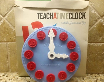 1950s CHILD GUIDANCE Toy Teach A Time CLOCK Vintage
