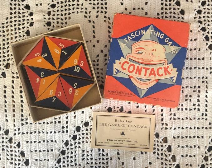 PARKER BROTHERS Vintage Tile Game CONTACK 1939