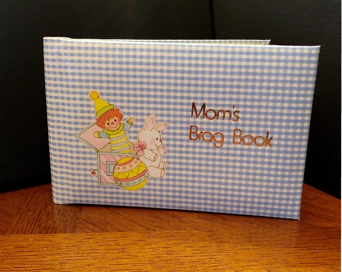 Vintage Mom's BRAG BOOK Photo Album, Nursery Toys, 1970s