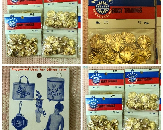 One Package WALCO Fancy Trimmings 40 Pieces, No. 375, FLOWERS, Couple of Varieties