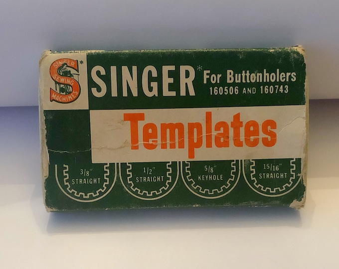 SINGER Sewing Company BUTTONHOLER TEMPLATES, Vintage Sewing Machine Parts and Accessories