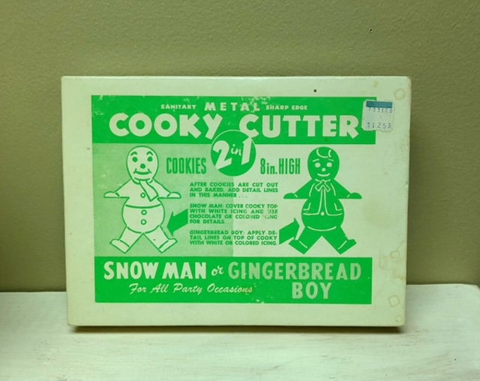 Vintage Eight (8) Inch High 2 in 1 COOKY CUTTER