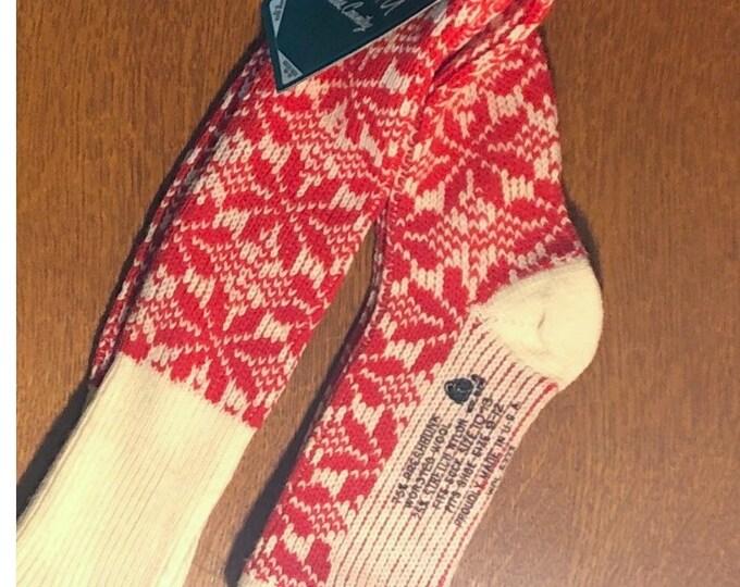 1970s Wool-Nylon Blend Knee High SKI SOCKS, New Old Stock, MEDALIST Allen-A Company
