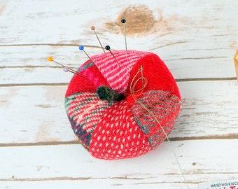 Red Apple Harris Tweed Pin Cushion
