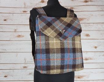 Beulah - MacKenzie Tartan Harris Tweed Backpack