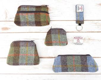 MacLeod Tartan Harris Tweed Accessories - Coin Purse, Pen/ Glasses Case, Keyring