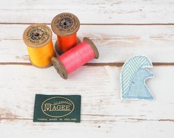 Tweed Beach Waves & Fishes- Harris/ Donegal Tweed pin brooch - Choose from Variety!