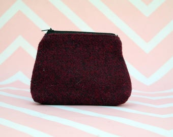 Harris Tweed Coin purse - change purse - small pouch - cosmetic bag - wallet for notes and cards